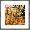 New Hampshire Mountain Cemetery Framed Print