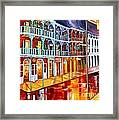 New Orleans Reflections In Red Framed Print