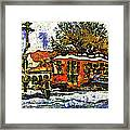 New Orleans Streetcar Paint Vg Framed Print