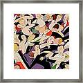 New Years Revelers Framed Print