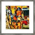 New York Horse And Carriage Framed Print