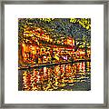 Night Life By The River Walk Framed Print