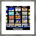 Nintendo History Framed Print by Benjamin Yeager