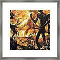 No Fire For The Antelopes Framed Print