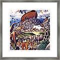 Noah's Ark Framed Print by Mia Tavonatti