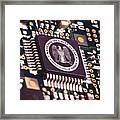 Nsa Computer Chip Framed Print