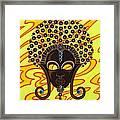 Nubian Modern Afro Mask Framed Print