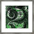 Number Two In Green  Framed Print