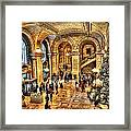 Ny Library Foyer Framed Print