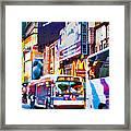 Ny Times Square Impressions Iv Framed Print