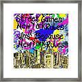 Nyc Kids' Street Games Poster Framed Print
