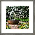 Oak Alley Landscape In Vacherie Louisiana Framed Print