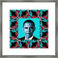 Obama Abstract Window 20130202m180 Framed Print by Wingsdomain Art and Photography