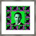 Obama Abstract Window 20130202p128 Framed Print