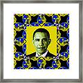Obama Abstract Window 20130202p55 Framed Print