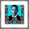 Obama Abstract Window 20130202verticalm180 Framed Print by Wingsdomain Art and Photography