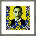 Obama Abstract Window 20130202verticalp55 Framed Print by Wingsdomain Art and Photography