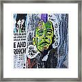 Obama The Grinch Framed Print