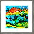 Ocean Tempest Tile Framed Print