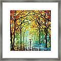 October In The Forest Framed Print by Leonid Afremov