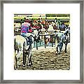Off To The Race Framed Print