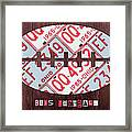 Ohio State Buckeyes Football Recycled License Plate Art Framed Print