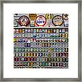 Oil Cans And Gas Signs Framed Print by Garry Gay