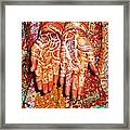 Oil Painting - Wonderfully Decorated Hands Of A Bride Framed Print