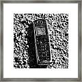 Old Broken Smashed Thrown Away Cheap Cordless Phone Usa Framed Print