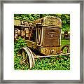 Old Farm Tractor Framed Print