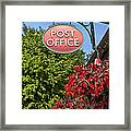 Old Fashioned Post Office Sign Framed Print