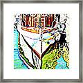 We Will Soon Go Away With The Old Ferry  Framed Print by Hilde Widerberg