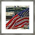Old Glory And The Bay Framed Print