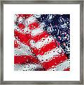 Old Glory Impression Framed Print