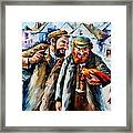 Old Jews And A Rooster  Framed Print