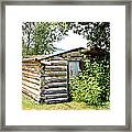 Old Log Homestead IIi Framed Print