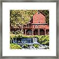Old Mill And Waterfall Framed Print