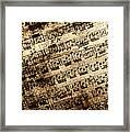 Old Music Framed Print