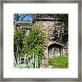 Old Stone Hearth And Fireplace Framed Print