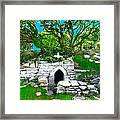 Old Tomb In The Countryside Ireland Framed Print