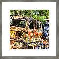Old Trucks And Old Bicycles Framed Print
