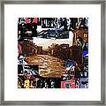 Old Tucson Arizona Composite Of Artists Performing There 1967-2012 Framed Print