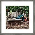 Old Wooden Garden Bench  Framed Print