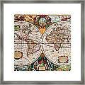 Old World Map Framed Print by Csongor Licskai