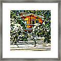 On A Winter Day Framed Print