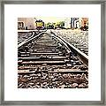 On The Tracks Framed Print