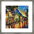 On The Way To Morning Framed Print by Leonid Afremov