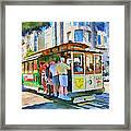 On Tram In San Francisco Framed Print by Yury Malkov