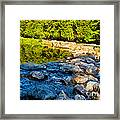 One River - Three Flows Framed Print
