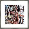 Open Gate Framed Print by Kelly Kitchens